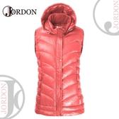 【JORDON 橋登 女 超輕羽絨背心《嫩紅》】0170/保暖背心/羽絨衣/背心