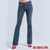 BOBSON 亮鑽釦伸縮小喇叭褲(9022-53)