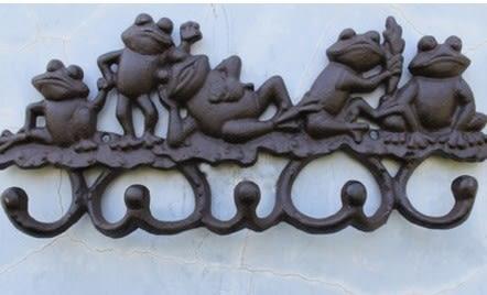 協貿國際鑄鐵工藝裝飾品五蛙圖1入