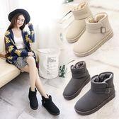 雪靴 雪地靴女冬季短筒加絨加厚保暖女棉鞋2019韓版百搭學生平底短靴子