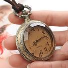 懷錶 創意復古學生考試看時間球形翻蓋懷表金色飛賊項鏈表同學護送禮物【快速出貨八折下殺】