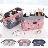 韓國熱銷款 紅鶴 碎花款鐵架大容量化妝包 盥洗包 相機包 隨身包 洗漱包 收納 旅行【RB475】