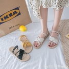 涼鞋 涼鞋女仙女風ins潮2021新款夏季時尚百搭網紅學生女士平底羅馬鞋 618購物節