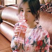 so-kid杯子塑料女學生韓國網紅清新可愛少女心水杯運動成人吸管杯  居家物語