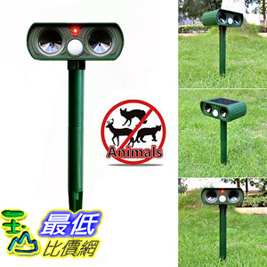 [106美國直購] 水太陽能驅蟲器 Solar Animal Repeller  Cat Repellent Ultrasonic with Motion Sensor
