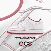 Nike 休閒鞋 Air Force 1 GS 白 紅 縫線 小白鞋 女鞋 大童鞋 【ACS】 CW1575-100