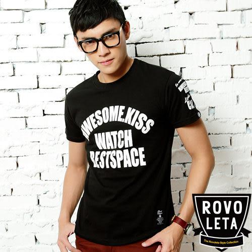 t恤男BEST SPACE英文短t shirt【BS-1191】