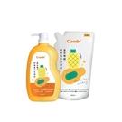 康貝 Combi 黃金雙酵奶瓶蔬果洗潔液1000ml+800ml(1罐+1包)