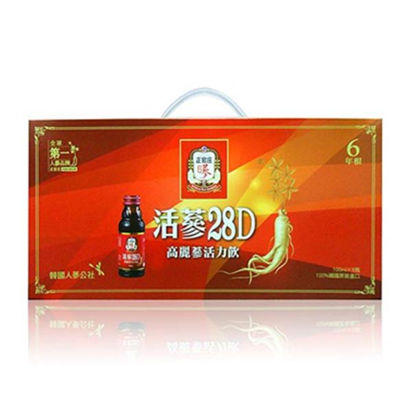 ◤最低價432/盒◢正官庄 活蔘28D 100ml X8入 禮盒組