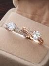 戒指 戒指女仿真鑚戒鑚石雙排網紅時尚復古食指個性ins冷淡風時尚港風 歐歐