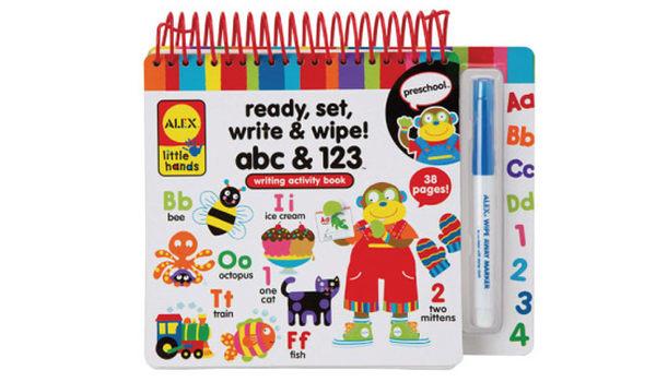【奇買親子購物網】美國ALEX 學前練寫本abc & 123