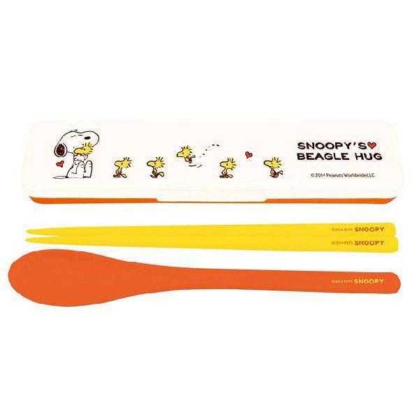 史奴比 湯匙 筷子 餐具盒  日本製 奶爸商城 757449