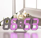 LED鬧鐘靜音床頭創意時鐘簡約時尚掛鐘座鐘多功能電子鐘鬧鈴夜光 溫暖享家