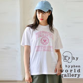 ❖ Hot item ❖ 學院風字母打印短袖T恤 - E hyphen world gallery