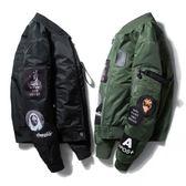 棒球外套   薄款棉衣外套棒球服ma1空軍飛行員夾克刺繡短款
