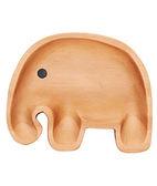 里和Riho 日本PETITS ET MAMAN兒童餐盤系列 造型木質餐盤-魔法大象 天然木質溫潤觸感,不用擔心摔破