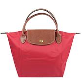 茱麗葉精品【全新現貨】Longchamp Le Pliage 折疊短肩揹帶手提包.紅 小 #1621