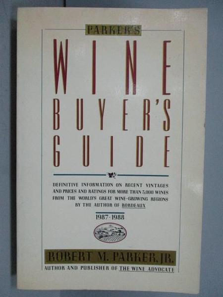 【書寶二手書T9/原文書_QBZ】Wine Buyer s Guide