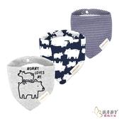 三角口水巾 三件組 媽媽愛我 | 純棉防水按扣圍兜兜 (嬰幼兒/寶寶/兒童/小孩)