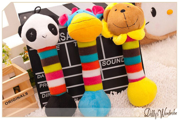 ☆Dolly生活館*╮寵物用品 可愛寵物狗狗/貓咪搖鈴造型毛絨磨牙耐咬發聲玩具 6款 20043