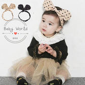髮帶 嬰兒 韓版 髮圈 波點 造型 頭飾 BW
