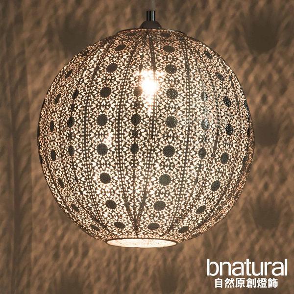 bnatural 亮鎳蕾絲花邊圓形吊燈(BNL00076)