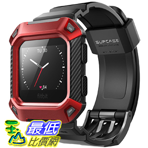 [8美國直購] SUPCASE-Fitbit 保護殼 保護套 Blaze Bands  Protective  Fitbit Blaze Fitness Smart Watch (Red)