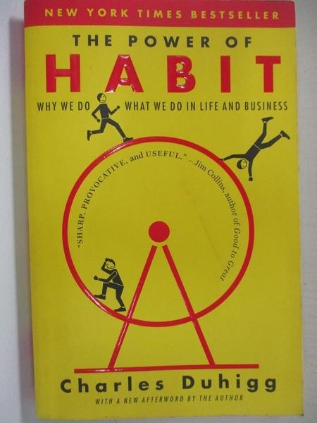 【書寶二手書T1/心理_HU7】The Power of Habit: Why We Do What We Do in Life…
