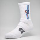 排球襪-經典款白...