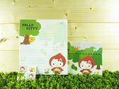 【震撼精品百貨】Hello Kitty 凱蒂貓~信籤組~小紅帽圖案【共1款】