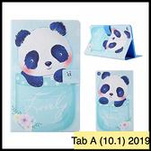 【萌萌噠】三星 Tab A (10.1吋) 2019版 T510 T515 卡通彩繪熊貓咪 全包軟邊 磁扣 插卡 平板電腦皮套