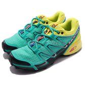 Salomon 戶外鞋 Speedcross Vario 綠 黃 運動鞋 越野 登山 休閒鞋 女鞋【PUMP306】 L37905500