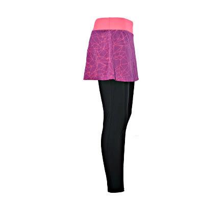 [陽光樂活]MIZUNO 美津濃 女瑜珈褲 假兩件女瑜珈長褲 K2TB721067 紫色