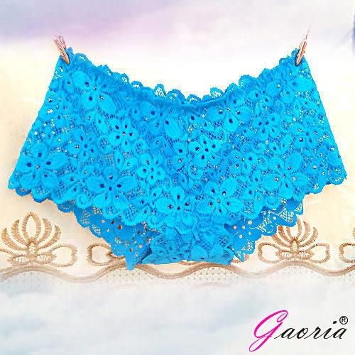 情趣睡衣 全館免運  ❤情趣用品女生內衣褲商品Gaoria想入非非一片式蕾絲款冰絲無痕內褲藍