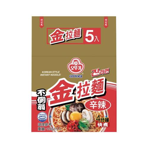 韓國不倒翁金拉麵(辛辣) 120g* 5【愛買】