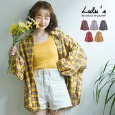 LULUS-C格紋細褶袖襯衫-5色  現+預【01032018】