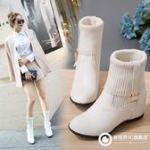 甜美淑女內增高女鞋毛線短靴 Xdpj74