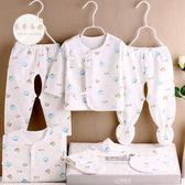 嬰兒衣服禮盒初生寶寶衣服棉質新生兒衣服0-3月嬰兒套裝用品春秋冬季滿月禮盒JY一件免運
