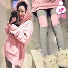 【愛天使孕婦裝】韓版(85050)珊瑚絨 韓版超暖哺乳帽T套裝 休閒服 睡衣(可調腰圍)
