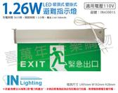 大友照明innotek LED 1.26W AC110V 吸頂/壁掛 緊急出口 出口標示 避難指示燈 _ IN430015