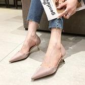 高跟鞋 夏季小清新百搭法式小跟鞋尖頭細跟高跟單鞋女鞋子-Ballet朵朵