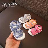 夏款嬰兒涼鞋女寶寶學步鞋1-2歲男童包頭防踢涼鞋不掉軟底幼兒鞋  巴黎街頭