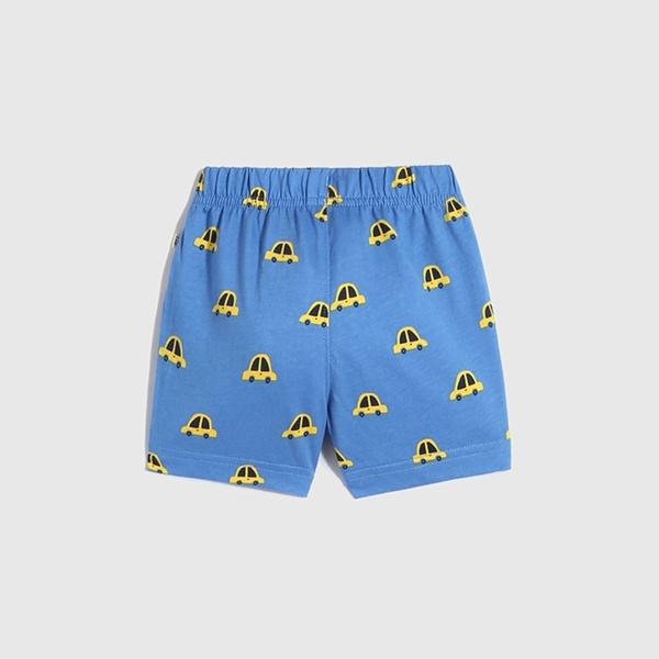 Gap嬰兒 布萊納系列 童趣抽繩裝飾休閒短褲 820153-藍色