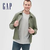 Gap男裝工裝風格翻領紐扣外套546670-沙拉黃綠