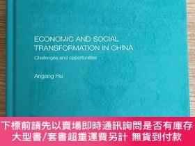 二手書博民逛書店Economic罕見and Social Transformation in China:Challenges a