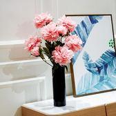 【季末大優惠】若雲仿真落地大牡丹花束 客廳玄關裝飾花電視櫃新房擺設假花絹花