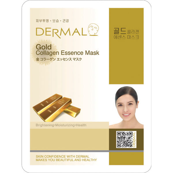 韓國【DERMAL】黃金膠原蛋白緊緻面膜 1入(23g)