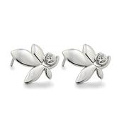 耳環 925純銀-葉子造型生日情人節禮物女飾品73dm111[時尚巴黎]