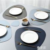 北歐風皮革餐桌墊家用西餐墊防水防油隔熱墊創意碗墊子杯墊餐盤墊TA7886【雅居屋】