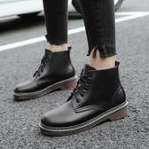 秋冬季英倫風短靴 平底馬丁靴大碼鞋《小師妹》sm870